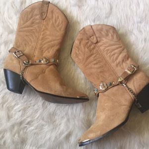 Tan Western Boots Leather